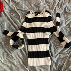 F21 striped cropped top
